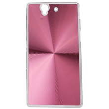 CD pattern phone case aluminum sticker phone shell PC back cover for Sony L36h