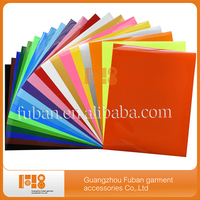 10x10inches Korea quality PU heat transfer vinyl for T-shirt Cut Sheet