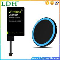 Fantasy Slim Right Wireless charger kit Qi standard wireless charging pad + Receiving stickers 2 pin micro USB wireless receiver