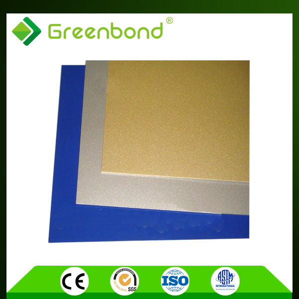 Greenbond modern construction colour acp/acm/ aluminum composite panel well-known high light panel