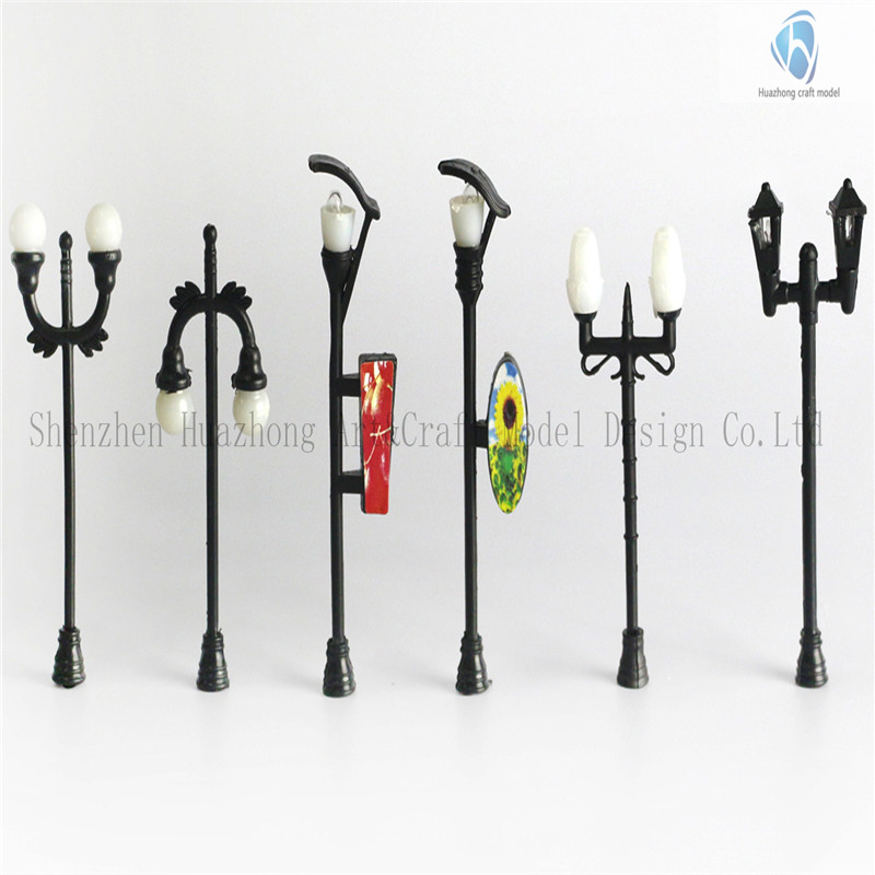 plastic scale Model Yard Lights with Different Shapes, Lamp for architects