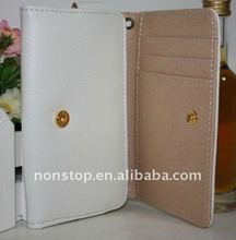 Leather Flip Wallet Case for Apple iPhone 4S 4 4G