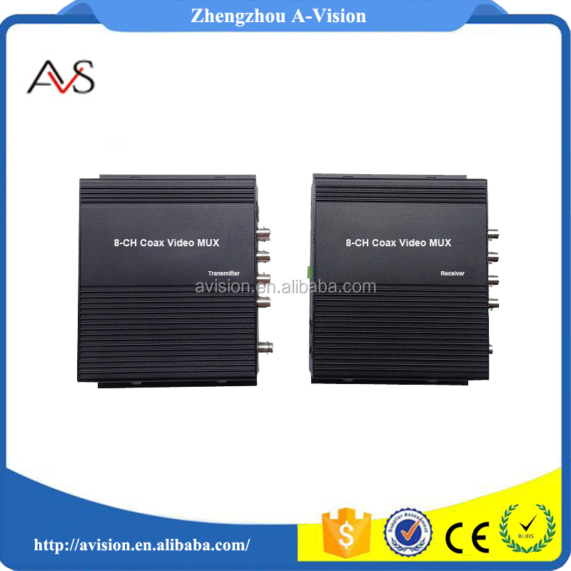 8 in 1 analog signals mixer over coaxial cable to 400M