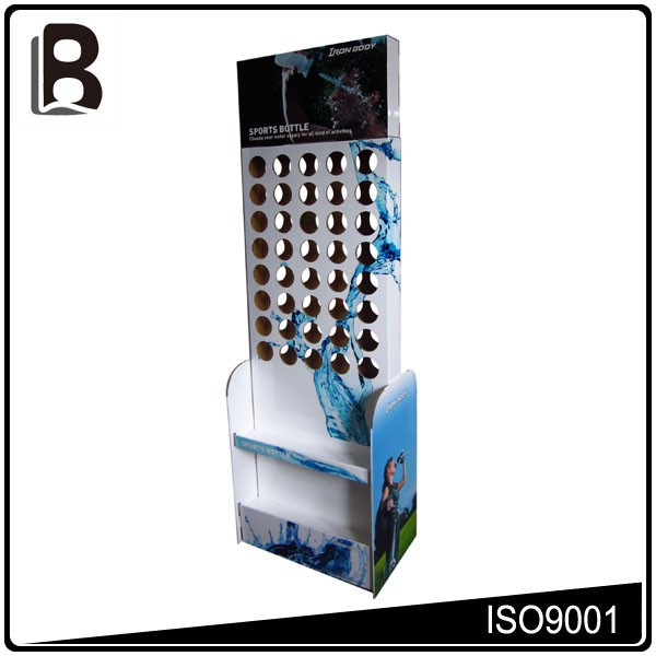 Economic friendly high quality plastic bottle display rack