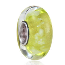 Environmental Glass Glow in the Dark European Charm Beads with 925 Silver Core