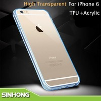 Transparent Crystal Back Cover For iPhone 6 Case For iPhone 6 Bumper Case