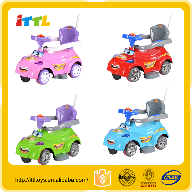 New style one seat 4 wheel hand push baby ride on car