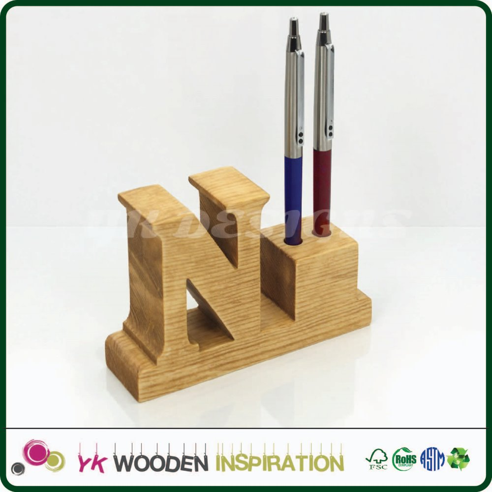 2 pen wood box display for decoration