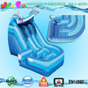 curvy wet n dry inflatable slide,commercial grade inflatable slide double dip dolphin n wave theme