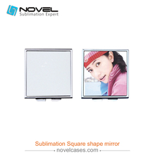 High clear Square shape blank sublimation make-up mirror