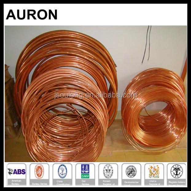 AURON/HEAWELL ABS BV GL DNV ISO OHSAS CE C10100 Copper tube cooler coiler/brass cooler C10100 pipe/cuprum C10100 exchange tubes