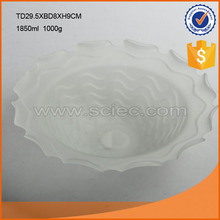 "Wholesale 1000g frosted 2"" thick plate glass window prices/dinner glass plate"