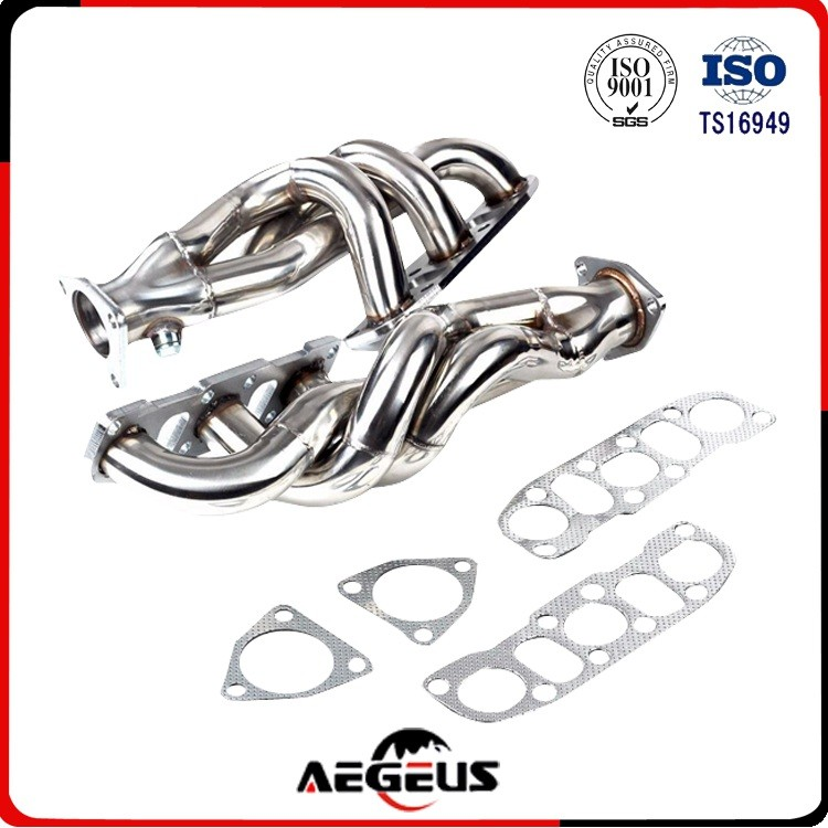 ISO Auto Stainless Steel Custom Exhaust Pipe Exhaust Header For Chevy Small Block 265-400 V8 Engine