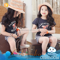 Hot mew products 2016 kids clothing wholesale short pants casual kids summer clothing baby girl boutique clothing sets