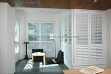 Fashionable clearview bar plantaion pvc shutter use in door and window decoration