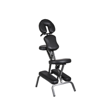 TR-253 Portable Tattoo Stool Ajustable Black Tattoo Chair for Massage health care