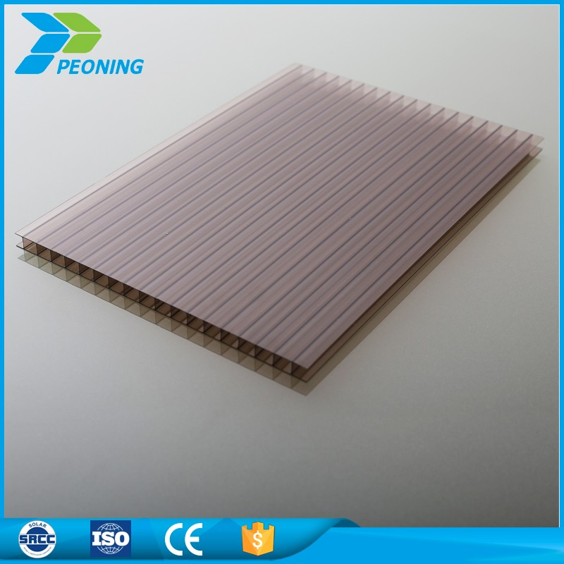 High Impact resistance hardened polycarbonate honey comb sun pack sheet