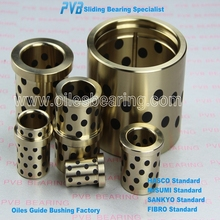 cast bronze bearing with solid lubricant Inserts, self-lubricating cylindrical bus, 2052.70 oiles bushing