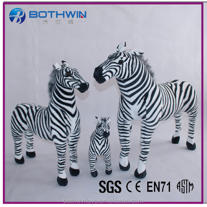 Giant Striped Zebra lifelike stuffed animals