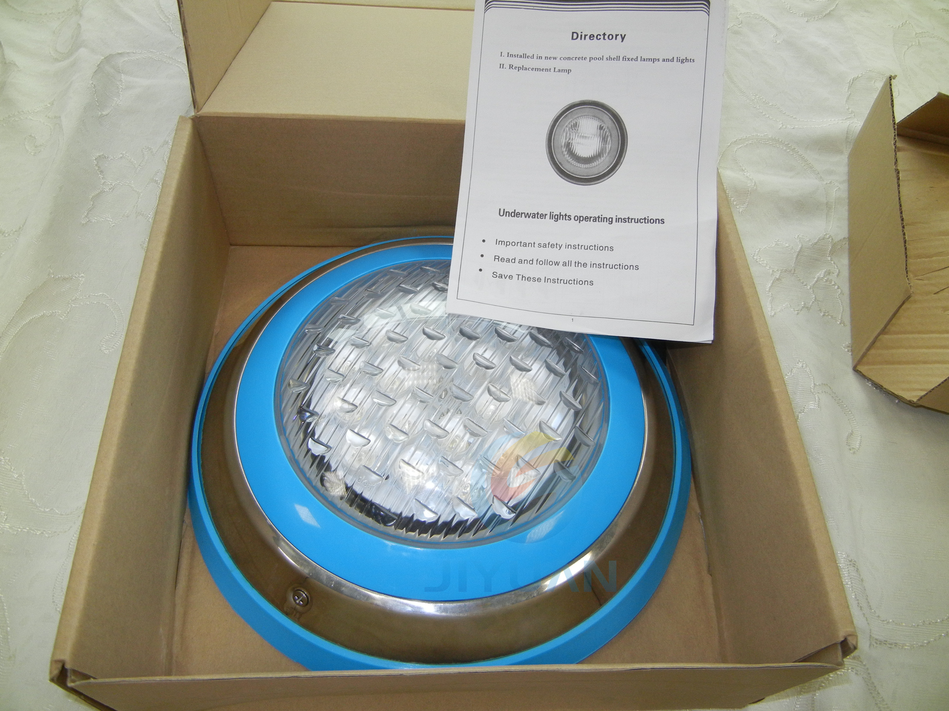 Different Capacities fountain led underwater light with wholesale price