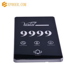 EP-A401 Electronic door plate Room Number plate for hotel room with doorbell system and touch switch