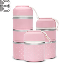 Hot Sale Mini Japanese Style Stainless Steel Lunch Box, Leak-Proof Lunch Box, Portable Food Storage Container
