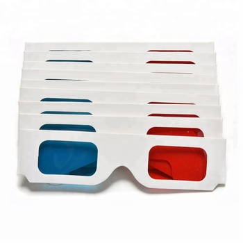 Cheap Cardboard 3D Glasses Custom Paper Anaglyph 3D Red Blue Glasses