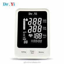 Free OEM Ambulatory Digital Upper Arm Blood Pressure Checking Meter Monitor with Pulse Oximeter