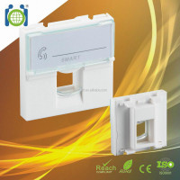 French RJ45/RJ11 Keystone Faceplate( Wall Outlet), 45*45mm. PC