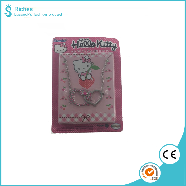 2017 Yiwu Riches Plastic Hello Kitty Necklace Pendant Kids for Promotion