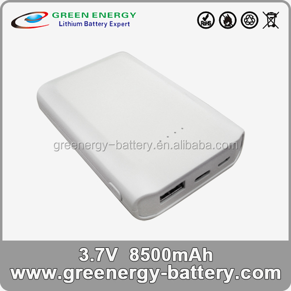 8500mAh high capacity portable battery charger