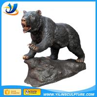Professional brass cub and bear sculpture with high quality