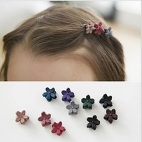Queena Wholesale Korea Cute Style Flower Shaped Frosted Hair Accessories