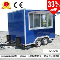 Mobile street shops mobile food vans mobile food trailer caravan for sale