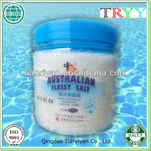 Refined Salt, Edible Salt, Cook Salt, Crystal Salt, Factory Made, Size: 0.5-2mm, Plastic Tank Package