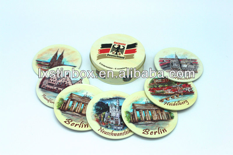cup mat package tin cans