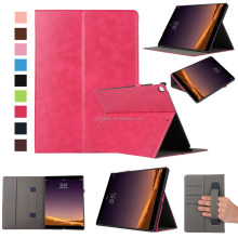 New Tablet Case With Pencil Holder Card Slots Elastic Hand Strap Leather Case Stand Cover For iPad Pro 12.9 2017