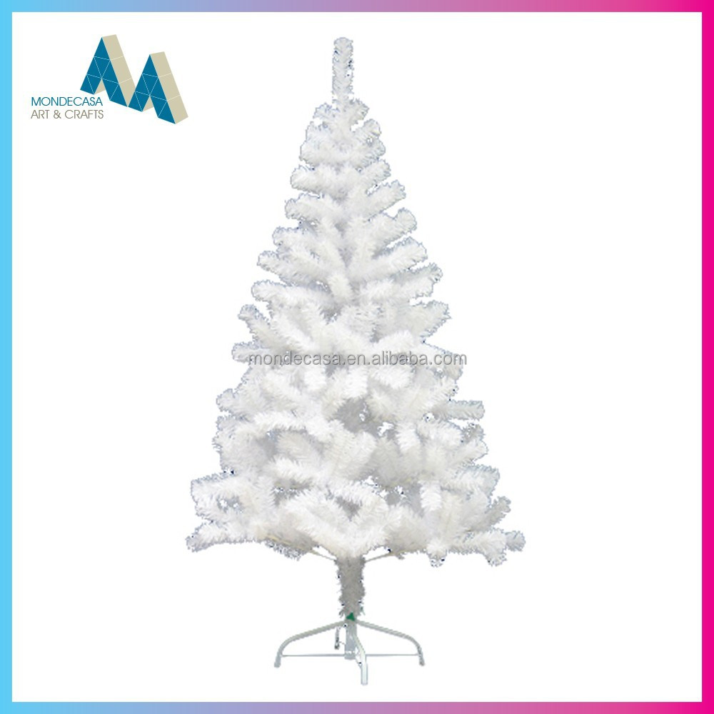 artificial PVC christmas tree white