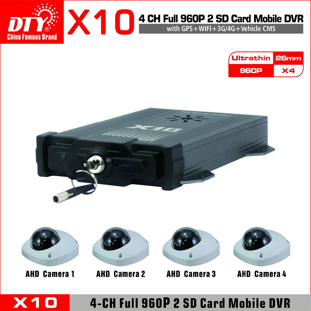 OEM/ODM car mobil dvr manufacturer, dual SD card 4 channels 3g gps internal dvr