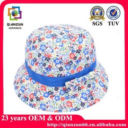 Promotional summer breathable kid's canvas bucket hat with carton letter and love printing