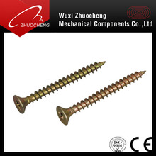 DIN 7505 factory supply yellow zinc plated chipboard screws self tapping screw