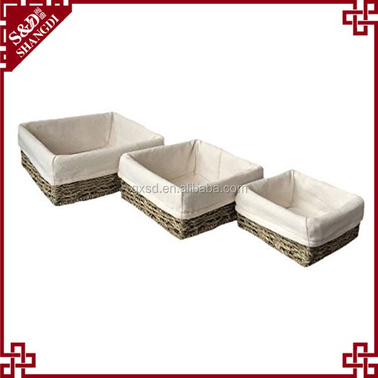 Seagrass woven cosmetic or sundries storage small basket
