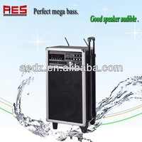 8 inch Mobile Active Portable PA Speakers System With UHF Wireless DVD player