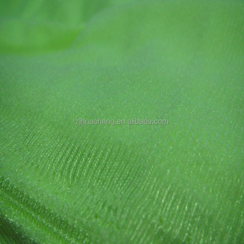 Mercerized Velvet Knitting tricot Fabric, Made of 100% Polyester