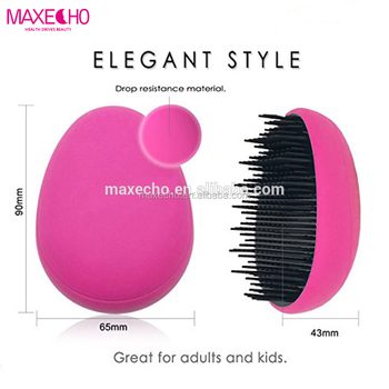 MAXECHO Egg Detangling Brush - glide the Detangler Brush through Tangled hair - Best Brush