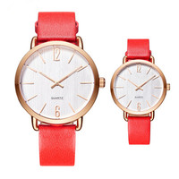 Hot fashion minimalist design couple watch rose gold plated pair watch quality calfskin strap 3ATM OEM lover's timepieces