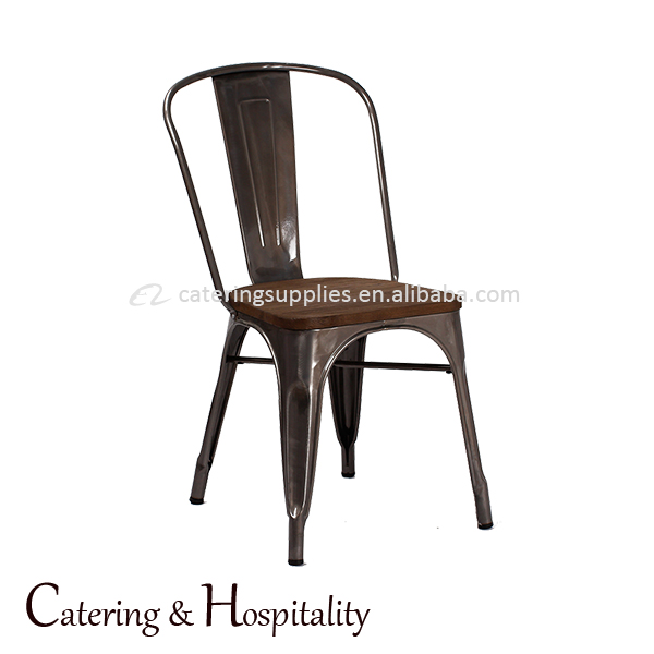 Industrial Style Vintage iron metal chair/wood seat chair Metal Wire Mesh Chair Iron restaurant Dinner Stackable Chair