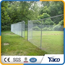 9 gauge PVC powder coated chain link used chain link fence for sale factory