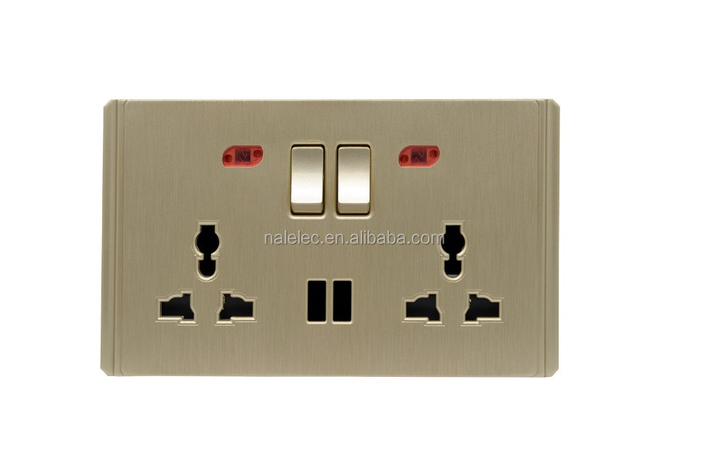 13 amp multi-function switched usb wall socket