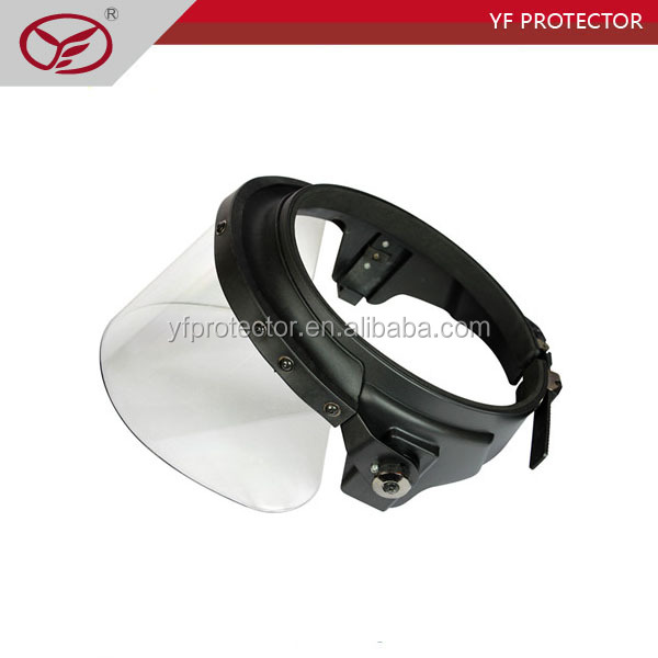 Military face shield/police riot helmet visor/ Police anti riot face shield